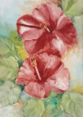 A2012-1 Christmas Hibiscus by Isaiah Browne_image