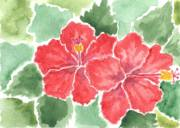 A2017-03 Red Hibiscus by Isabel Elise Stamper_image