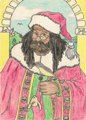 B2002-02 Father Christmas by Audrey Drummond_image